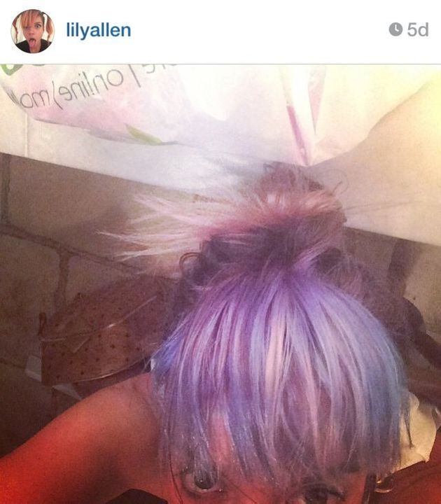 Lily Allen Debuts New Purple Hair Look At Electric Picnic