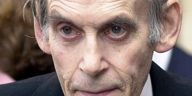 Former Liberal leader Jeremy Thorpe leaves a Service of Thanksgiving for former Labour Chancellor Lord...