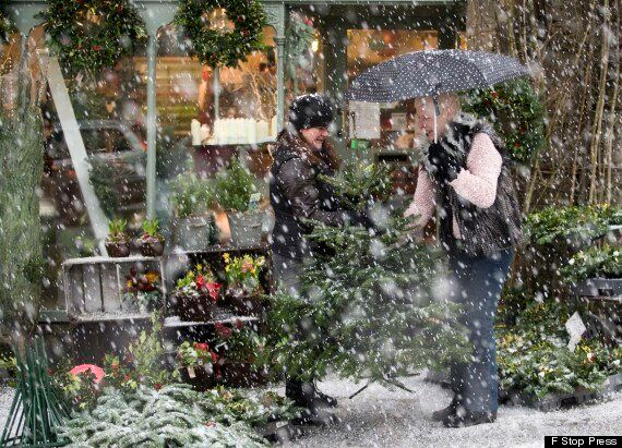 UK Snow Falls In Midlands, Lake District And Scotland