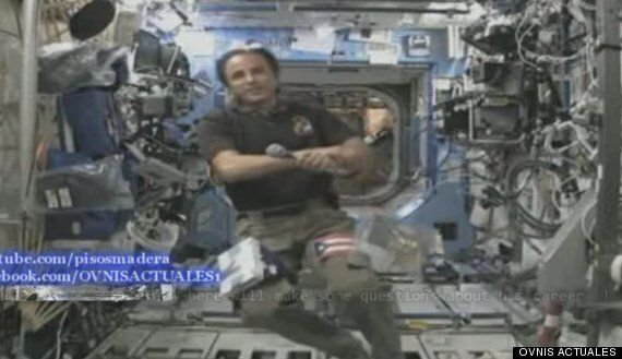 Space Station Astronaut 'Squirms' At UFO