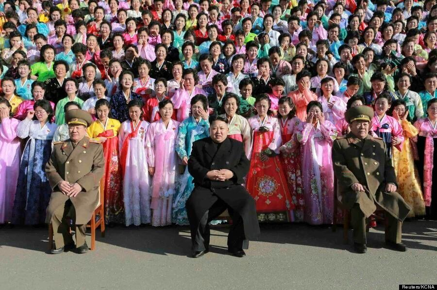 Kim Jong Un Surrounded By Crying North Korean Women Is An Incredible