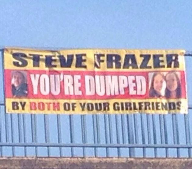Motorway Banner Name And Shame: Best Way To Dump A Cheating