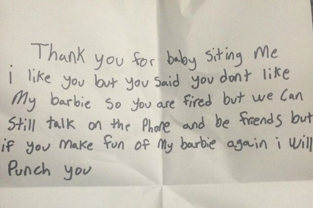 Girl Fires Babysitter In Style: 'Make Fun Of My Barbie Again