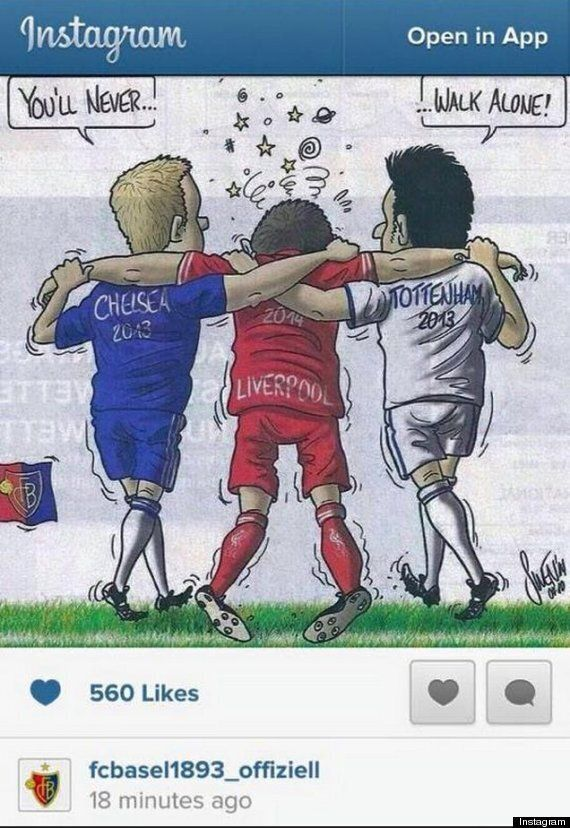 FC Basel Instagram Post Mocks Chelsea, Liverpool And Spurs All At