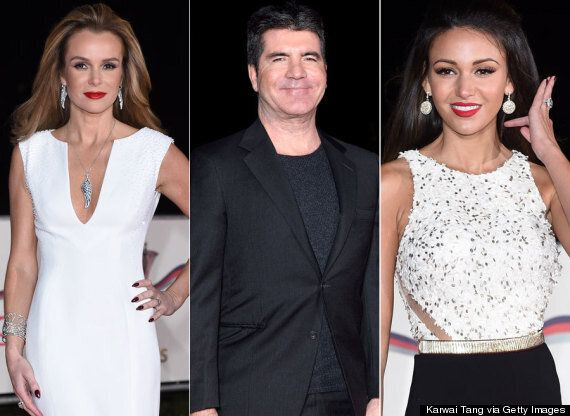 Amanda Holden, Michelle Keegan And 'X Factor' Judge Simon Cowell Hit The Red Carpet At The Sun Military...