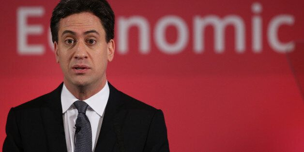 LONDON, ENGLAND - DECEMBER 11: Labour Party leader Ed Miliband speaks to business leaders on December...
