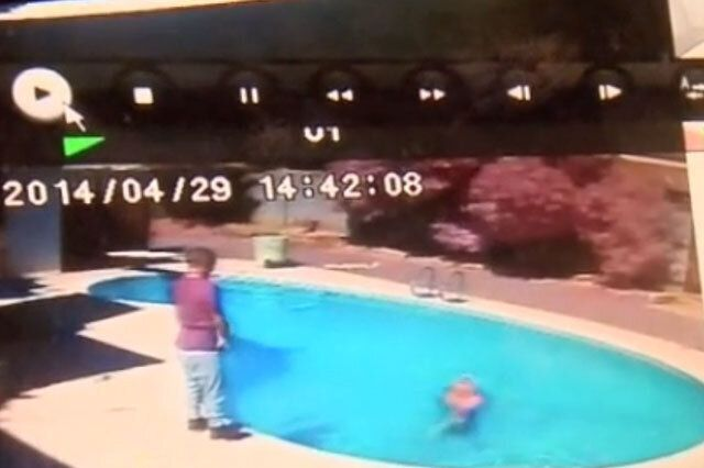 Dad Throws Two-Year-Old Daughter Into Swimming Pool To