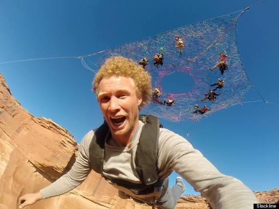 These Guys Built A Giant Hammock 400ft Above The Utah