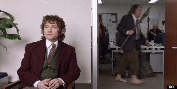 'The Hobbit': Martin Freeman Reprises Bilbo Baggins Role For 'The Office: Middle Earth' Sketch
