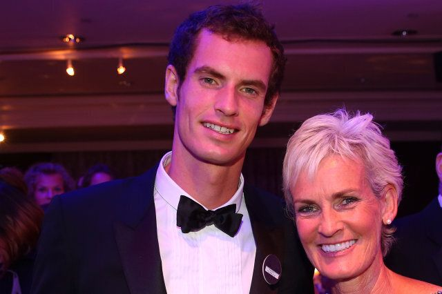 LONDON, ENGLAND - JULY 07:  Gentlemen's Singles Champion Andy Murray of Great Britain poses with his mum Judy Murray during the Wimbledon Championships 2013 Winners Ball at InterContinental Park Lane Hotel on July 7, 2013 in London, England.  (Photo by Julian Finney/Getty Images)