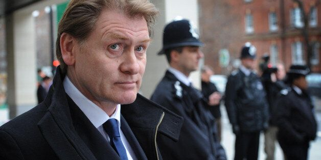 Eric Joyce MP leaves City of Westminster Magistrates Court in London today where he was spared jail for...