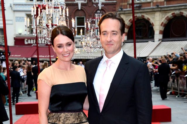 Keeley Hawes, Matthew Macfadyen poses at Anna Karenina World Premiere at Odeon West End on Tuesday September 04, 2012  in London. (Photo by Jon Furniss/Invision/AP)