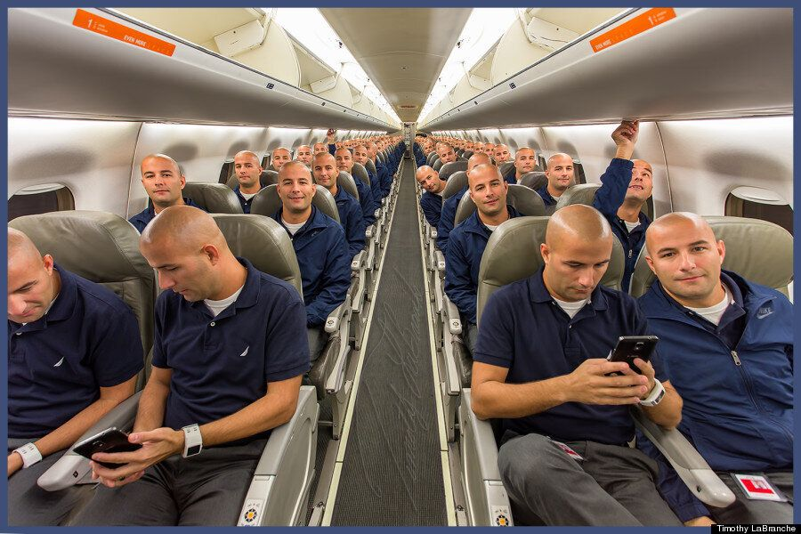 Airline Employee Takes 100 Selfies In Every Seat Of