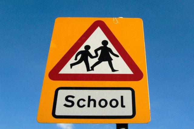 School crossing sign, UK