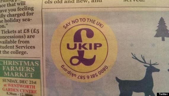 Ukip Mistakenly Tells People To 'Say No To The UK' In Rotherham Newspaper