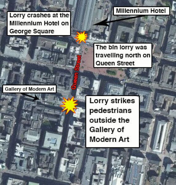 Bin Lorry Crashes Into Pedestrians In Glasgow's George Square, Six Confirmed