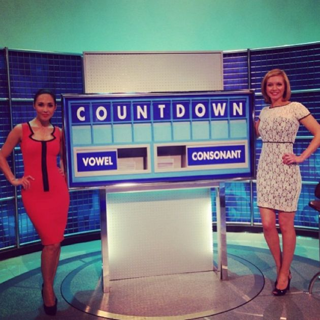 Myleene Klass Adds Glitz And Glamour To Countdown In A Series Of Cute