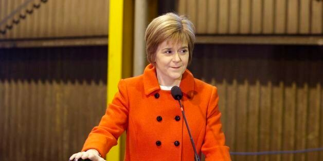 First Minister Nicola Sturgeon marks the start of construction of a hybrid ferry at Ferguson Marine Engineering...