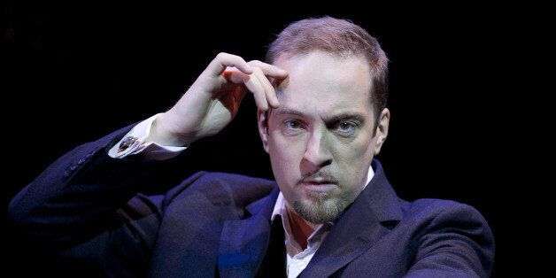 Derren Brown Stars In His New Show Svengali At The Shaftesbury Theatre In London. (Photo by John Phillips/UK...