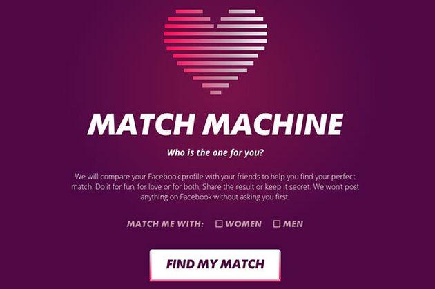 Match Machine: Find Your True Love In Your Facebook Friends List