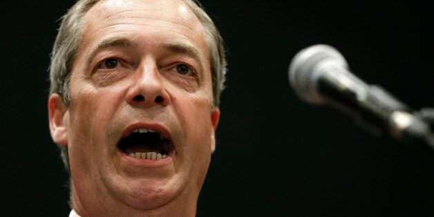 FILE - In this Monday, May 26, 2014 file photo Nigel Farage leader of Britain's UK Independence Party...