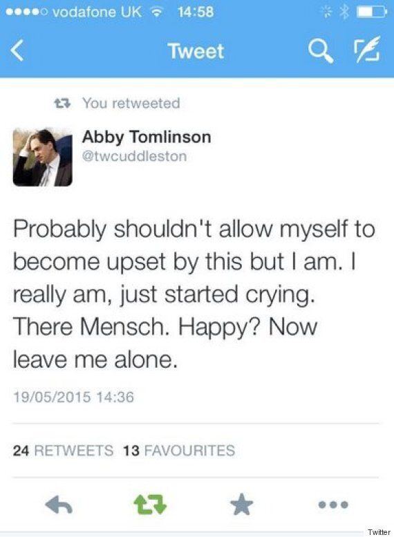 Louise Mensch Backs Down After 'Harrassing' #Milifandom Student Abby