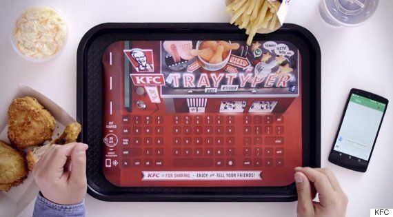 KFC Puts Bluetooth Keyboard In Food Trays So You Can Text At The