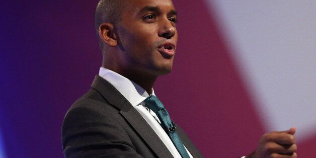 MANCHESTER, ENGLAND - OCTOBER 01: Chuka Umunna MP speaks to delegates during the Labour Party Conference...