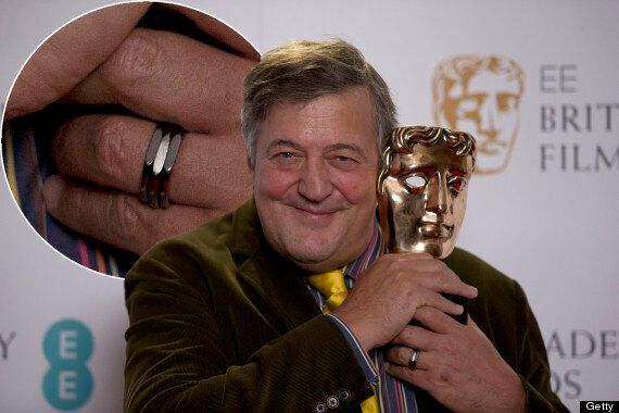 Stephen Fry Shows Off His Engagement Ring At BAFTA Nominations Ahead Of His Wedding To Elliott Spencer
