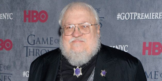 Author and co-executive producer George R. R. Martin attends