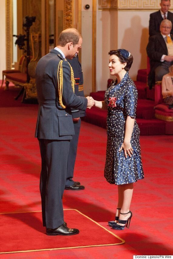 Sheridan Smith OBE: Prince William Presents 'The C Word' Actress With Her Medal At Buckingham Palace...