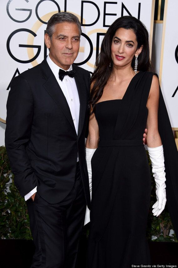 Golden Globes 2015: George Clooney And Wife Amal (Sort Of) Strike A Pose On The Red Carpet