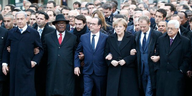 Front from the left, Israeli Prime Minister Benjamin Netanyahu, Malian President Ibrahim Boubacar Keita,...