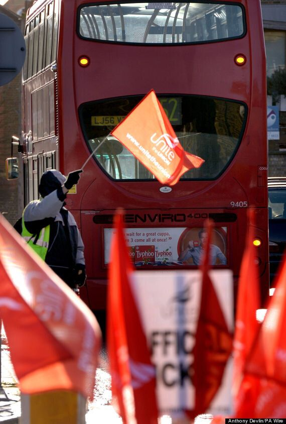 London Bus Strike: Two Thirds Of Services Don't Run As Drivers Walk in Pay