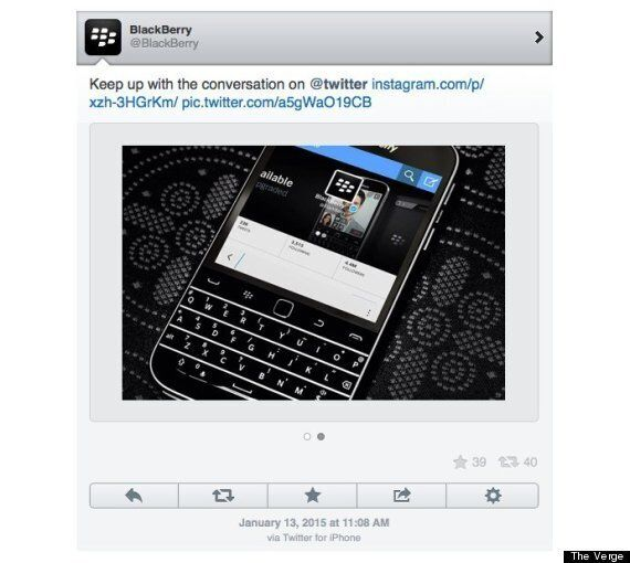 BlackBerry Tweeted From An