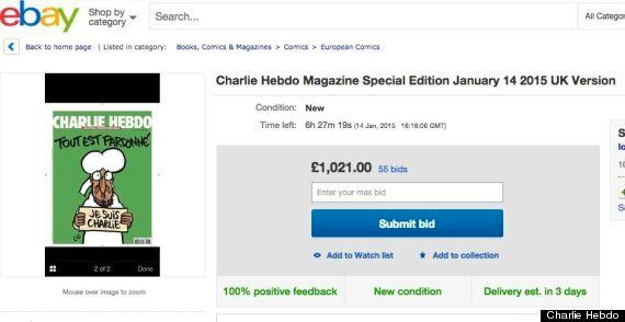 Charlie Hebdo UK Frenzy As Ebay Bids For Magazine's 'Survivors' Issue Top