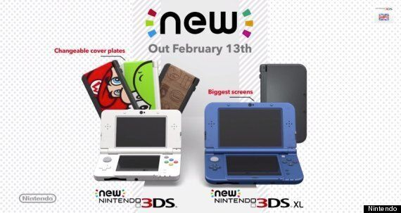 Nintendo's New 3DS Hits UK On 13th February