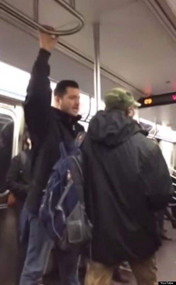 Homophobic Subway Preacher Drowned Out By Passenger's Willy Wonka