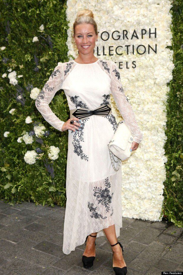 Denise Van Outen Proves She's The Yummiest Mummy In London In Print Dress And Sleek