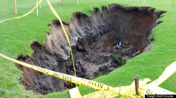14ft Sinkhole Opens On Scottish Golf
