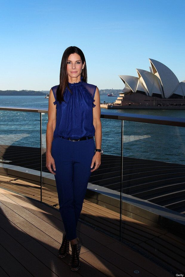 Picture Perfect: Sandra Bullock Is Beautiful In Blue At Sydney Photocall For The