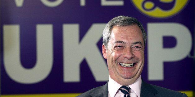 ROCHESTER, ENGLAND - NOVEMBER 21: United Kingdom Independence Party (UKIP) leader Nigel Farage speaks...