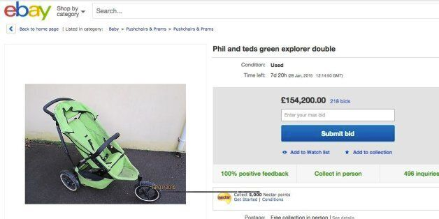 'I Shall Be Glad To See It Leave My Premises And Never Return': Dad Puts Buggy Up For Sale On eBay, With...