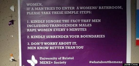 'Transphobic' Posters At Bristol University Tell Women 'Men Know Better Than