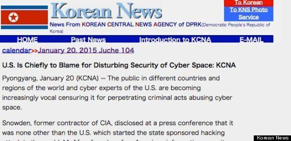 North Korea Says US Is 'Cyberwar