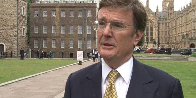 Videograb image taken dated 26/6/2013 of Lord Oakeshott who delivered a parting shot at Nick Clegg today...