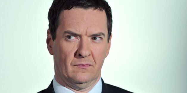 Chancellor George Osborne speaks during the Conservative press conference with Theresa May, Home Secretary,...