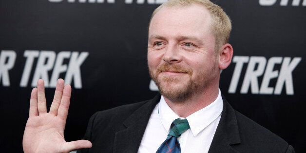 Simon Pegg arrives at the premiere