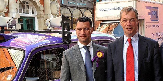 Ukip's migration spokesman Steven Woolfe with party leader Nigel