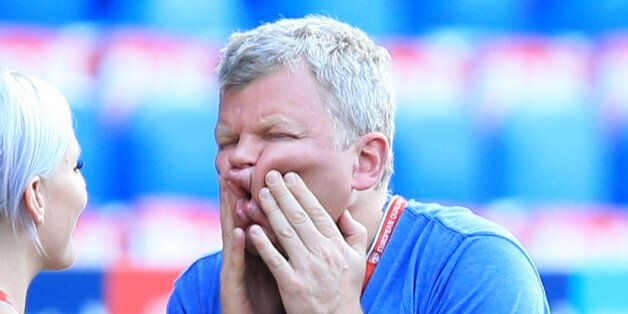 ITV presenter Adrian Chiles at the St Jakob-Park Stadium, Basel. PRESS ASSOCIATION Photo. Picture date:...
